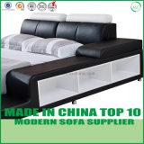 Bâti à la maison de chambre à coucher de cuir véritable de meubles de loisirs