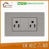 Double plot électrique de commutateur de mur de 13A Mf pour la maison