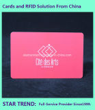 Spot UV com cartão de PVC envernizado com fita magnética para lealdade