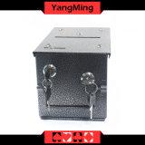 Kasino-Fertigung-engagierter Eisen-Münzen-Bargeld-Kasten-installieren pumpendes Wasser-Becken für Kasino-Schürhaken-Tisch mit Verschluss Ym-Mx01