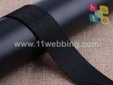 熱い販売25mm黒いポリエステル安全ベルトのウェビング