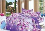 Reeks van het Beddegoed van de Dekking van het Dekbed van het Af:drukken van de Polyester van het Huis van China Suppiler de Textiel Kingsize Kleurrijke Goedkope