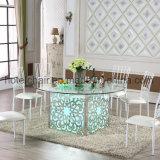 Lumière LED de couleur de luxe Table Table de banquet de mariage avec fête de mariage