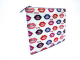 Digital Continuous Prited PU avec 210t Rectange Pen Bag Cosmetic