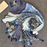 L'impression Geometic Polyester personnalisée long foulard (HWBPS20)