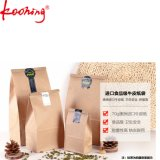 Custom Food Grade Packaging Printing Flat Bottom Kraft Paper Bag para café / pão / lanche sem alça