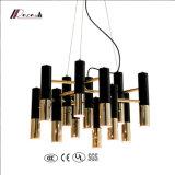 Lampes pendentifs modernes 13 lumières avec noir et or