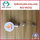 Epoxi Logo venta caliente Holder insignia barato de plástico con clip de PVC