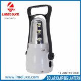 Lanterne campante rechargeable de 12 SMD DEL