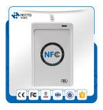 Lector de tarjetas inteligentes sin contacto NFC de mano para el sistema de control de acceso ACR122U