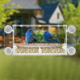 Chargeur personnalisé d'oiseaux à fenêtre acrylique avec des tasses d'aspiration super fortes