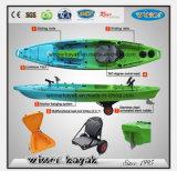 卸し売りカヌーペダルが付いているプラスチック釣カヤック
