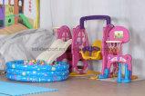 Скольжение малышей детсада цветастое крытое пластичное