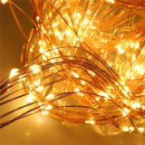 滝の銅の銀製ワイヤー屋外の木の装飾の豆電球のセリウムRoHS Cerficicate