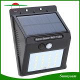 Indicatore luminoso solare solare della lampada LED di movimento di energia solare di illuminazione esterna fissata al muro del sensore, indicatore luminoso solare della parete