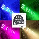 熱い販売の9 LEDs 10W RGBW 4in1のプラスチック平らな極度の細い段階PAR64ライト