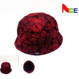 Chapéu de balde impresso OEM com seu design Logotipo de etiqueta tecida