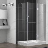 32 x 60のシャワーのルクスはニッケルのArchonの明確なガラスが付いている高い蝶番を付けられたFramelessのシャワーのドアにブラシをかけた
