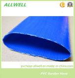Разрядка пластичного волокна PVC промышленная и аграрная труба шланга Layflat полива