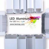 Profilo di alluminio dell'espulsione quadrata per illuminazione del LED