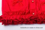Casaco de lã do efeito das flores das meninas - retificar feito malha
