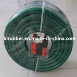 Tubo flessibile di giardino Braided della fibra del PVC con la pistola di acqua