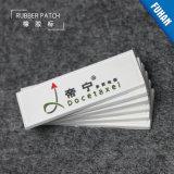 Patch de etiqueta de borracha de vestuário gravado