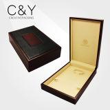 Caixa de jóias de luxo de madeira de madeira personalizada com certificado TUV