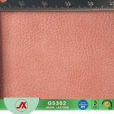 Couro artificial resistente do PVC da abrasão da fábrica, fornecimento conservado em estoque do lote dos produtos de couro