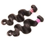 Do Weave malaio do cabelo humano do lote 100% da onda 3PCS do corpo do cabelo do Virgin da princesa 8A o cabelo malaio não processado empacota a polegada de 100g/PC 8-28