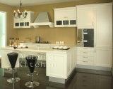 Gabinete de cozinha personalizado da mobília da cozinha da madeira contínua