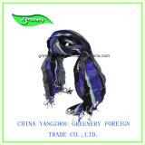 Púrpura promocional Voile de algodón puro bufanda normal