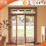 純木はドア、よい耐久性によってに蝶番を付けられたドア、Improtedの固体木の内部部屋によって蝶番を付けられたドア蝶番を付けた