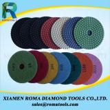 Almofadas de polonês do diamante de Romatools molhadas para polonês do granito/o de mármore