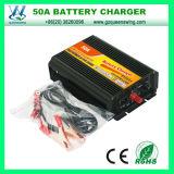 Queenswing 휴대용 50A 배터리 충전기 12V 24V 배터리 충전기 (QW-50A)