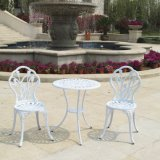 Покрынные алюминием бросанием таблица/стулы отдыха мебели /Park моря двора/сада