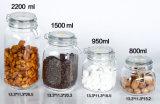 Frasco de vidro de vidro em utensílios de cozinha para armazenamento de alimentos