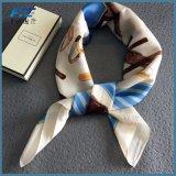 Hochwertige Druck-Gewebe-Stern-Frauen gedruckter Silk Schal