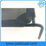 Textilene elevou a base do cão do berço do animal de estimação com o rasgo respirável resistente