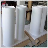 Blanco y Negro 100% Hoja de PTFE virgen / teflón placa
