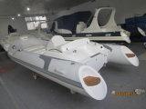 Barco inflable del casco de la fibra de vidrio de la velocidad de Liya los 4.3m