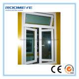 Openslaand ramen van pvc van het Glas van de Kleur van Roomeye de Witte Dubbele Vinyl voor de Bouw van het Huis
