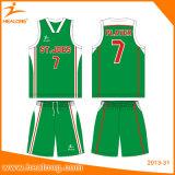 Basquetebol uniforme Jersey de Baseketball do Sublimation de Healong