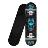Complete Standaard esdoorn skateboards met kleurrijke knipperende wielen