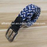 Los hombres azul elevada cómodo cinturón elástico de grano