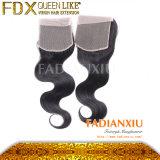 Fermeture de la Dentelle de cheveux Brésilien Hot Sale (FDX-LJ02)
