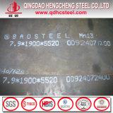 Placa de aço elevada de manganês de Schmn11 ASTM A128