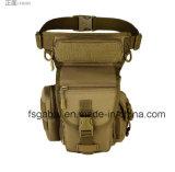 Antirrobo exterior tácticas camuflaje militar de la pesca deportiva en la cintura de la bolsa de pierna
