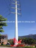 110kv Heavy Angle Transmission Tension Pole in Südostasien