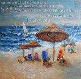 на пляже - картине маслом